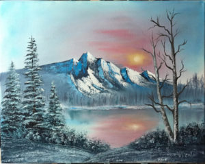 Oil Painting Class - Mountain with sunrise
